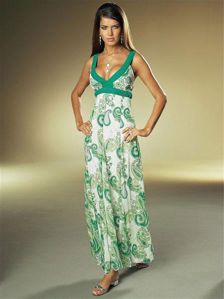 длинное платье летнее
