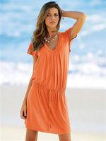 Английское апельсиновое платье.  Платья из Англии.